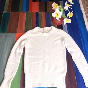 Burberry London 100 Ivory Cashmere Sweater size SP